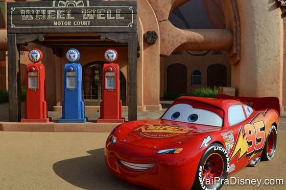 Área do Carros no Art of Animation.