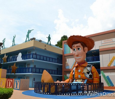 Área do Toy Story, no Disney's All Star Movies.
