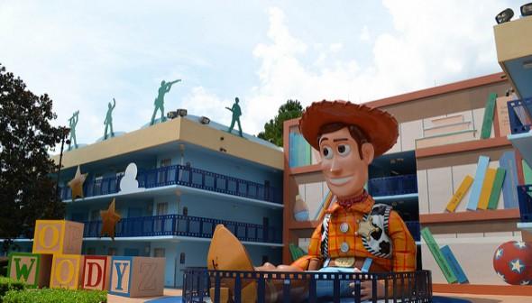 Área do Toy Story, no Disney's All Star Movies.