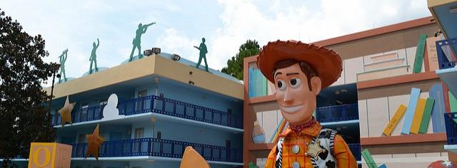 Área do Toy Story, no Disney's All Star Movies. É bem bonitinho, né?