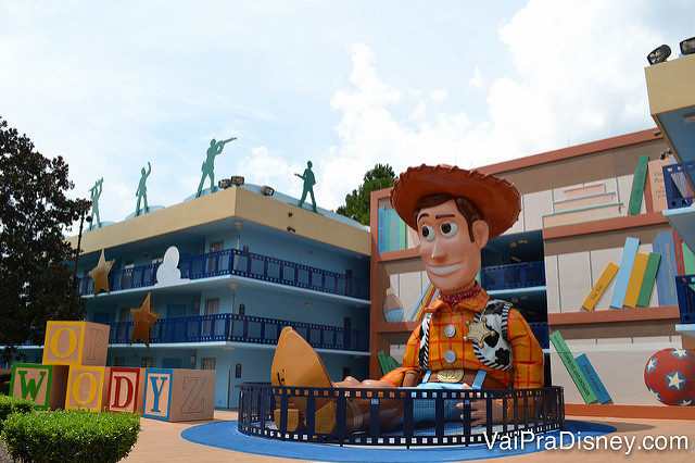 Área do Toy Story, no Disney's All Star Movies. É bem bonitinho, né?