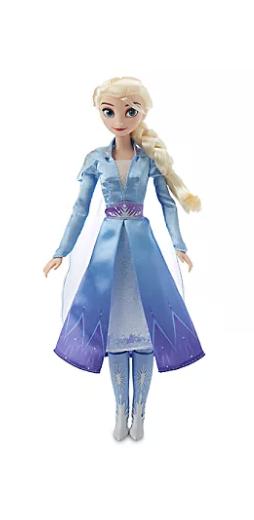 Foto de outra versão da boneca da Elsa de Frozen 2 que está à venda nas lojas da Disney