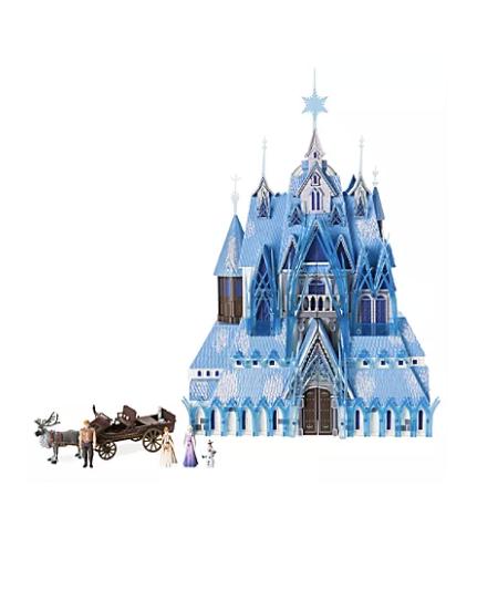 Foto do castelo com bonecos dos personagens de Frozen 2 que está à venda nas lojas da Disney