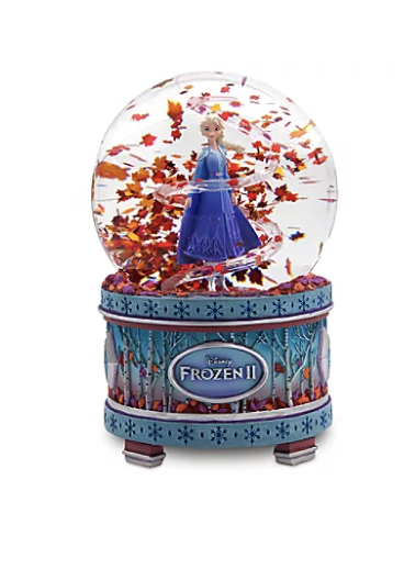 Foto do globo de neve que toca música de Frozen 2 que está à venda nas lojas da Disney