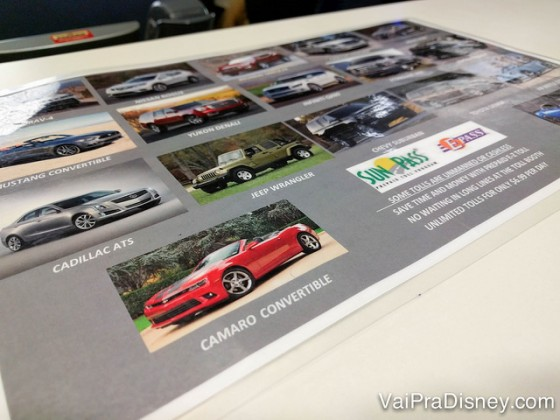 Foto dos modelos mais caros disponíveis para escolher em um folheto