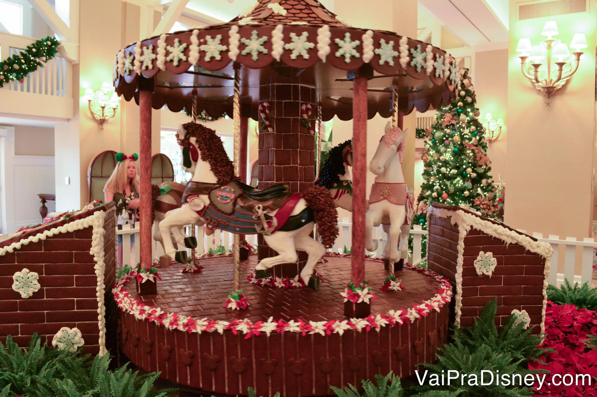 Um pouco da decoração de Natal do Yacht Club, um dos hotéis da Disney