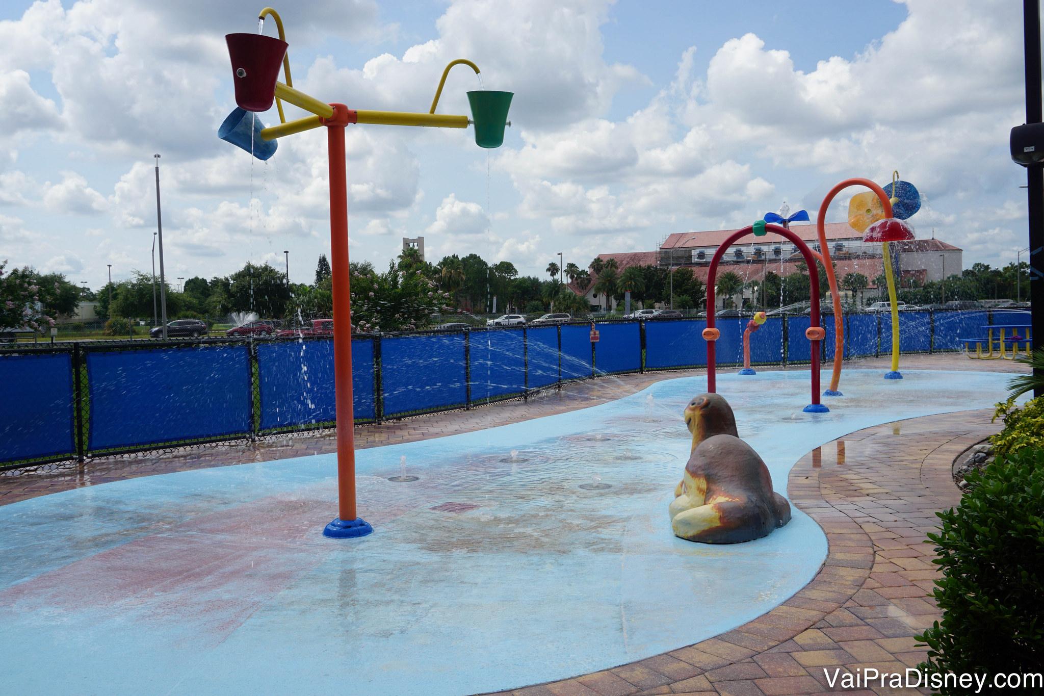Playground molhado para as crianças.