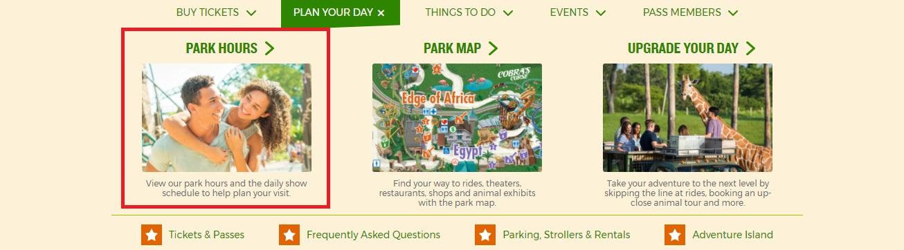 Como verificar o horário do Sea World e Busch Gardens