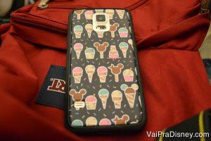 Lembranças da Disney - foto de uma capinha de celular personalizada da Disney