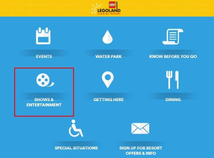 Como verificar os horários da Legoland