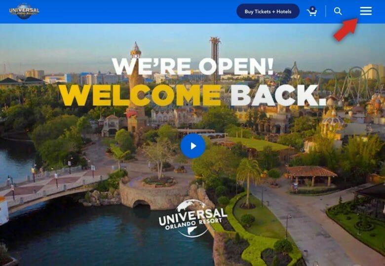 Como ver o horário de funcionamento da Universal. Foto do site da Universal Orlando
