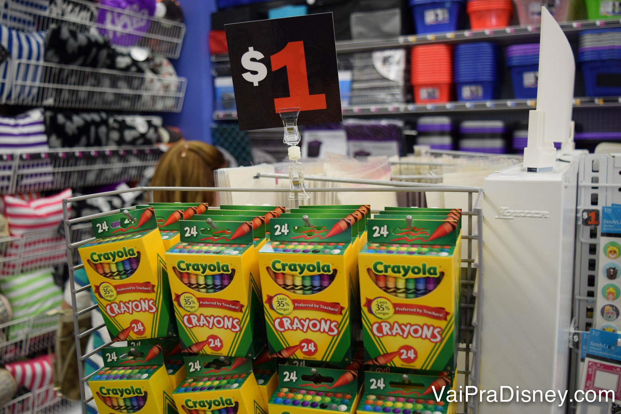 Pacotinho de Crayola por US$1!