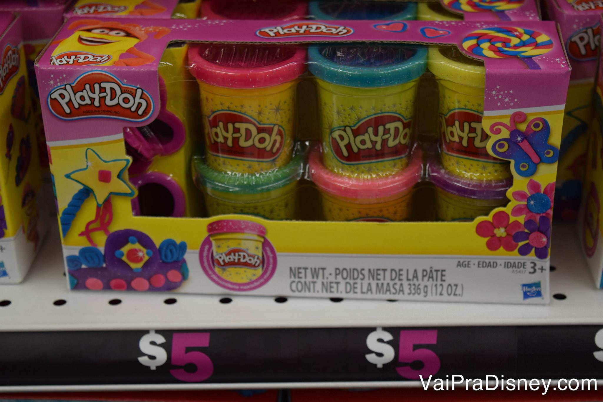 Massinha por 5 dólares! E da Play-Doh nem é genérica nem nada!