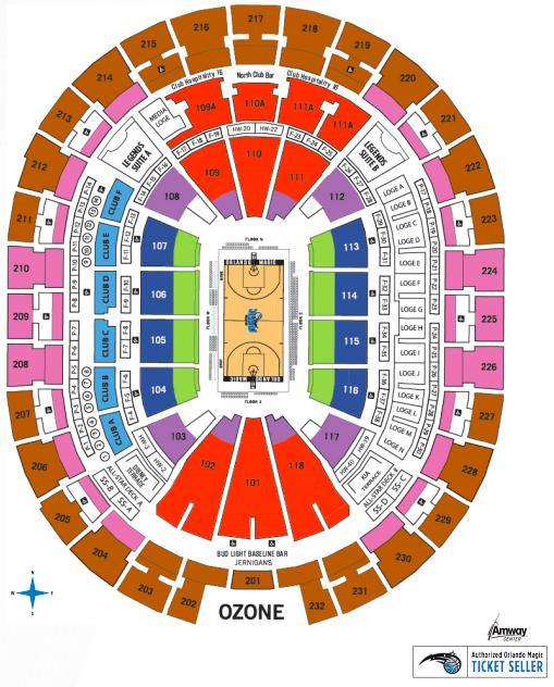 Mapa de assentos da NBA