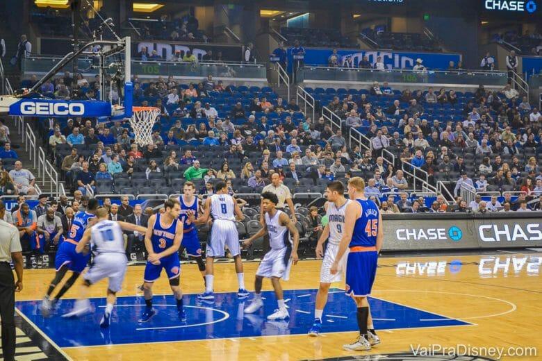 Orlando Magic teve suas dificuldades na temporada passada da NBA, mas nesse jogo ganhou dos NY Knicks! Foi lindo!