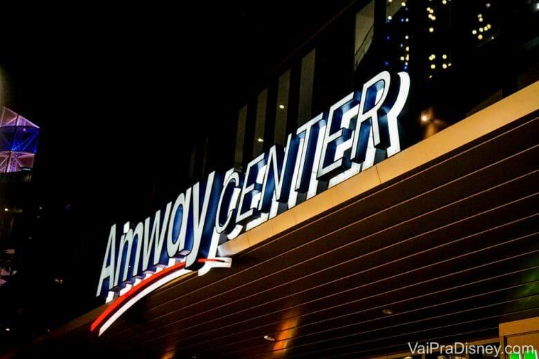 Os jogos da NBA em Orlando acontecem no Amway Center