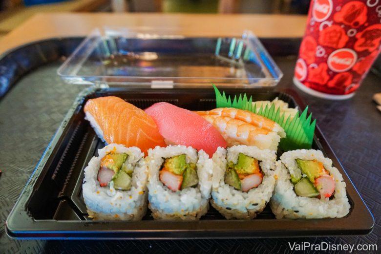 Comidas na Disney - Sushis não são vendidos só nos restaurantes caros!