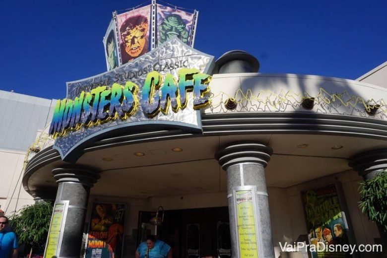 Monsters Cafe no Universal Studios. Boas opções para fugir da pizza e do hotdog