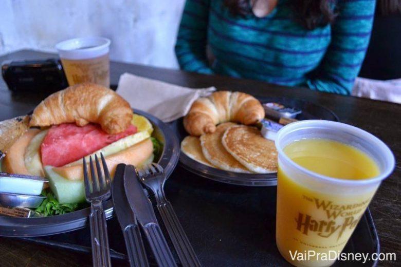 Café da manhã no 3 Vassouras vale a pena. Fica na área do Harry Potter do Islands of Adventure