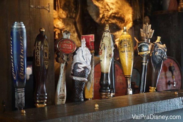 Cervejas tipo chopp no pub do Harry Potter