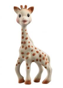 Foto de um mordedor para bebês  formato de girafa