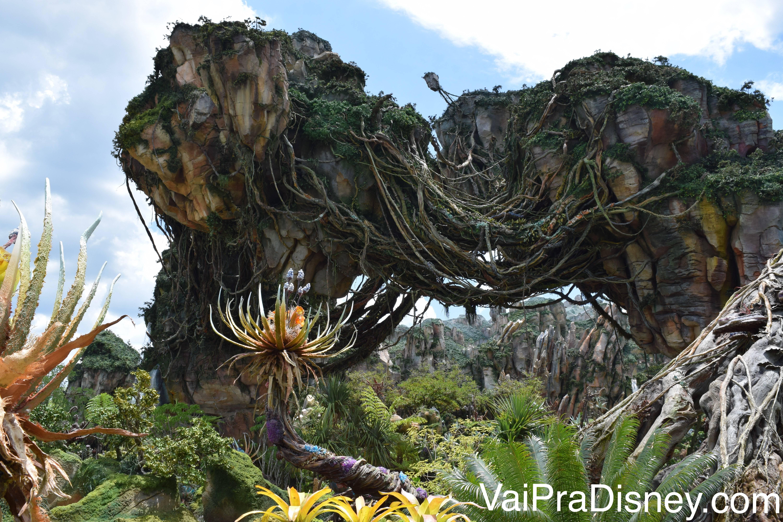 As ilhas flutuantes de Pandora são impressionantes e muito bem feitas!