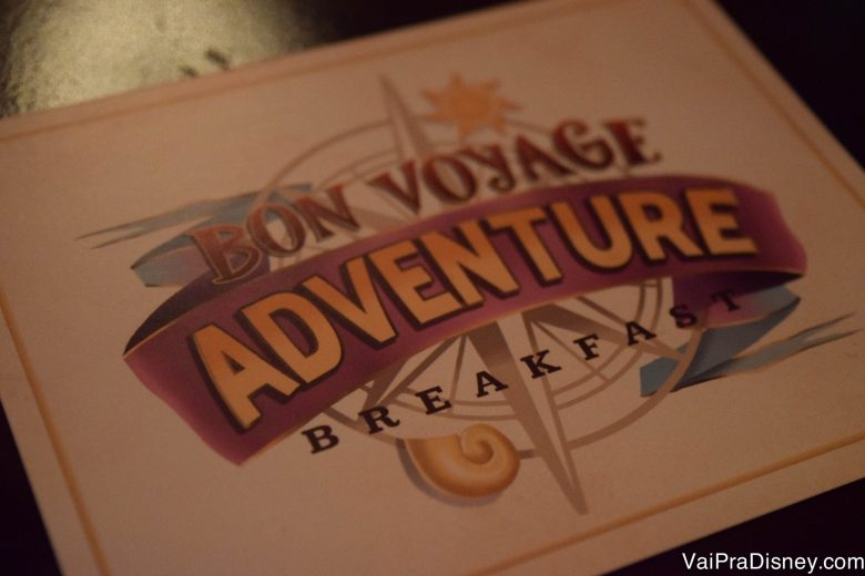 O Bon Voyage Adventure Breakfast é a mais nova refeição com personagens da Disney!