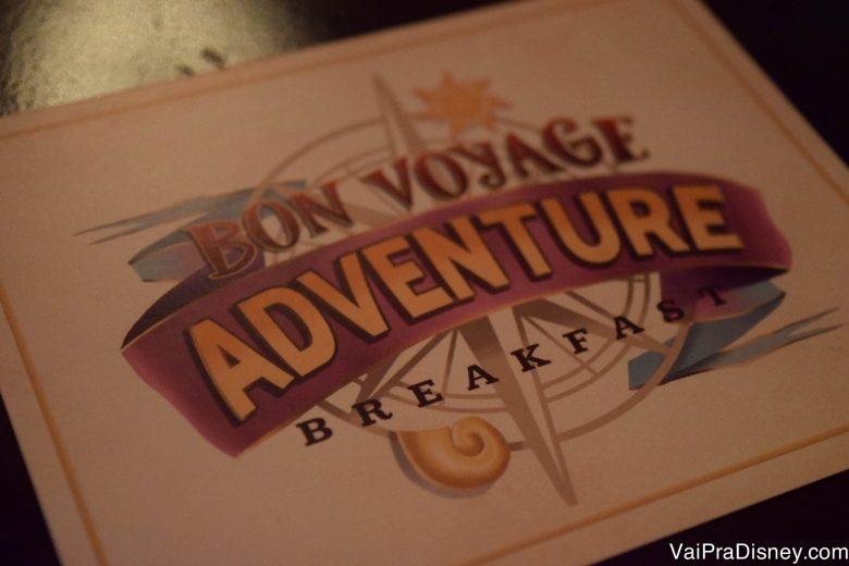Foto do cardápio do Bon Voyage Breakfast da Trattoria al Forno