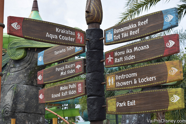 Áreas do mapa do Volcano Bay - Roteiro