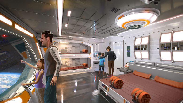 Foto divulgada pela Disney do conceito de como será o hotel interativo de Star Wars por dentro