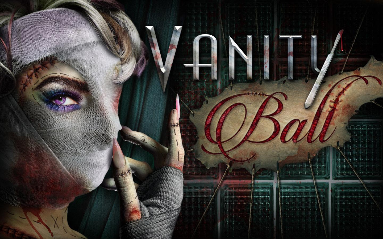 As scare zones são tão assustadoras quando as casas temáticas. A Vanity Ball, no pôster, mostra uma mulher com o rosto coberto de bandagens após participar de experimentos estéticos.