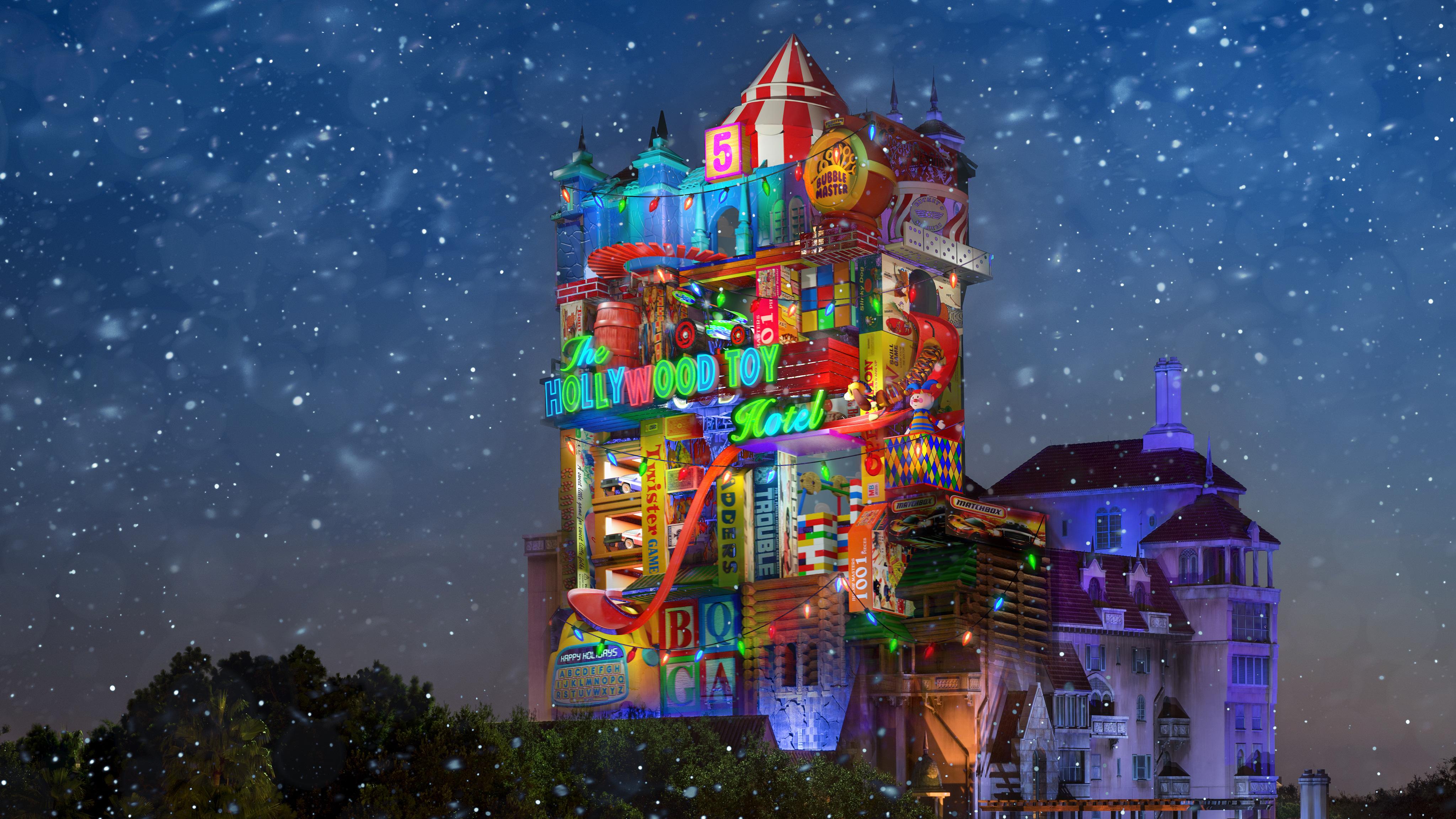Até a Tower entrou na comemoração de Natal do Hollywood Studios.