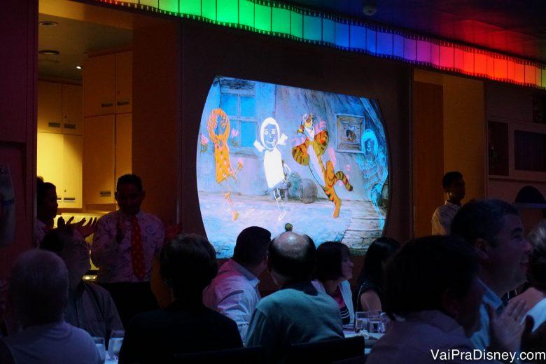 Foto da tela com desenhos animados no Animator Palate