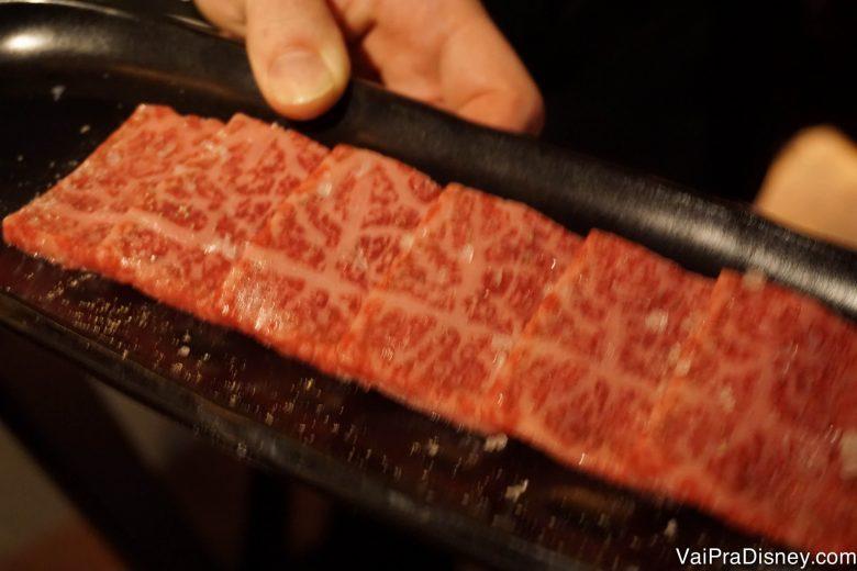 A porção da Renata, com 6 pedacinhos de carne