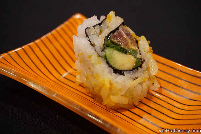 Sushi de atum servido no Polynesian