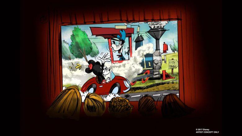 Primeira atração do Mickey!