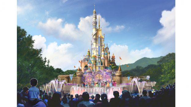 O castelo de Hong Kong terá influências de princesas da Disney.