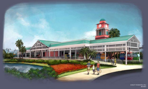 A estação do Caribbean Beach será a central