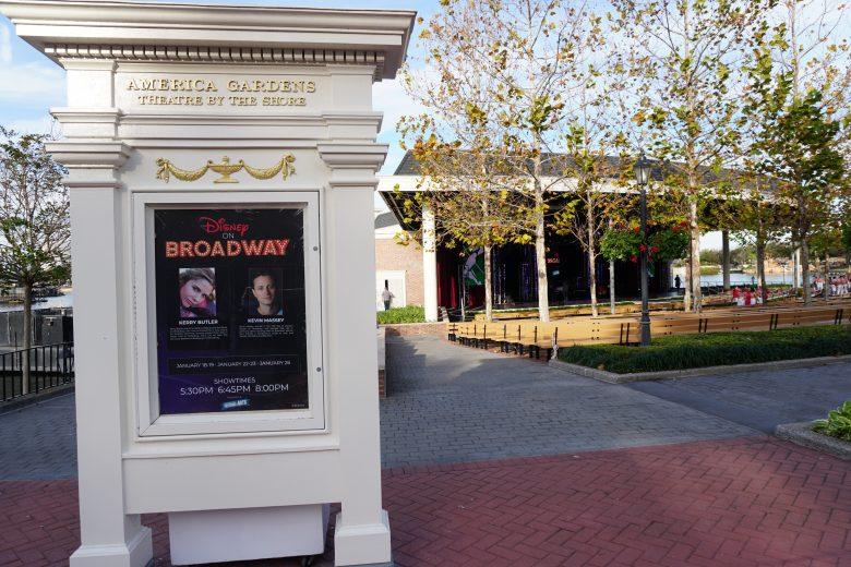 Os shows da Disney on Broadway Series também estarão de volta em 2020. Neles, artistas da Broadway apresentam números de musicais famosos da Disney.