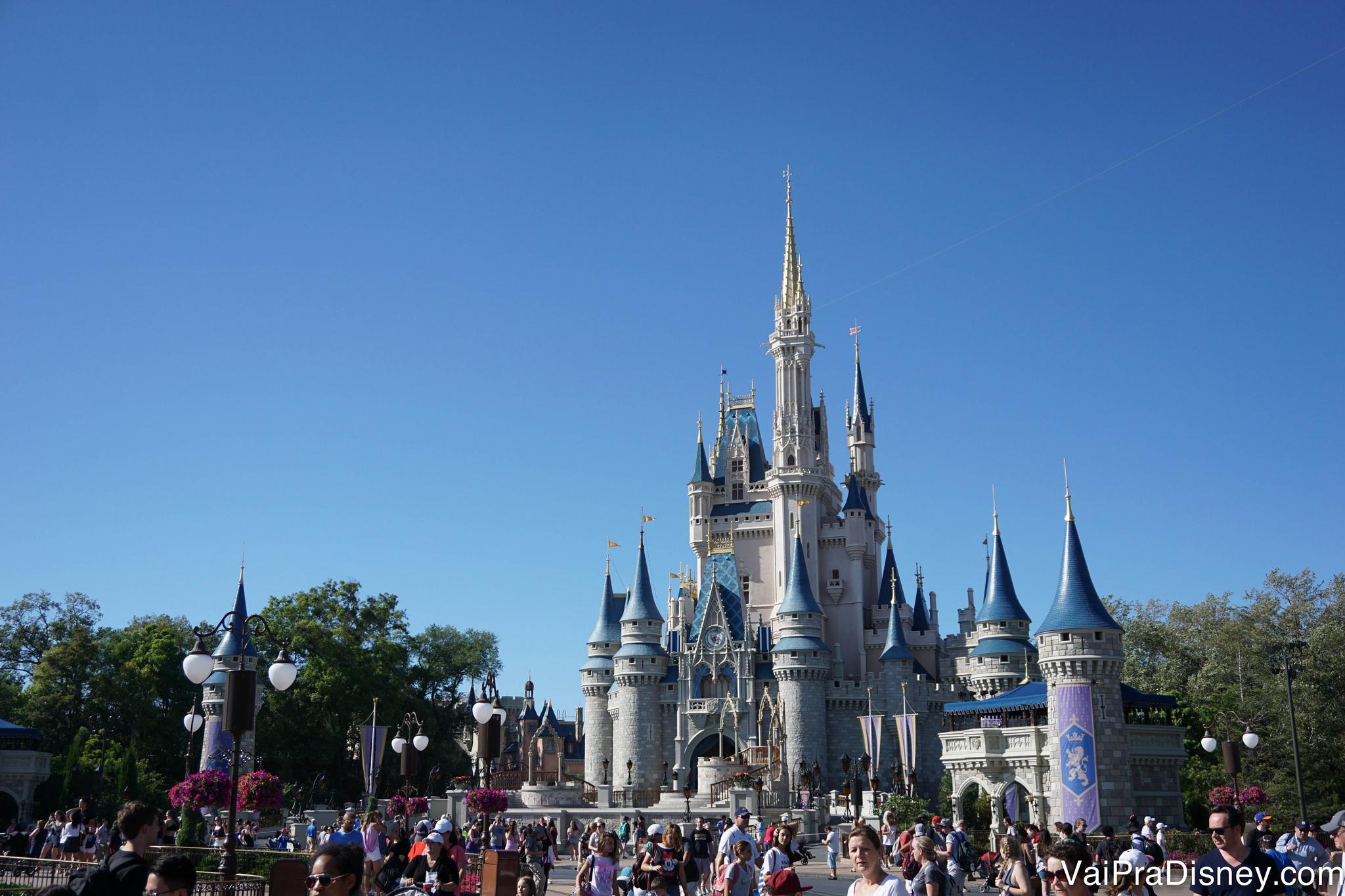 Quando a gente vê o castelo cai a ficha: estou na Disney!
