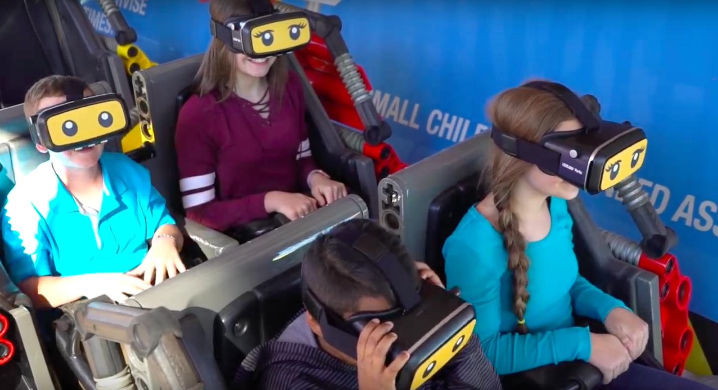 The Great Lego Race: a montanha Russa de realidade virtual do Legoland