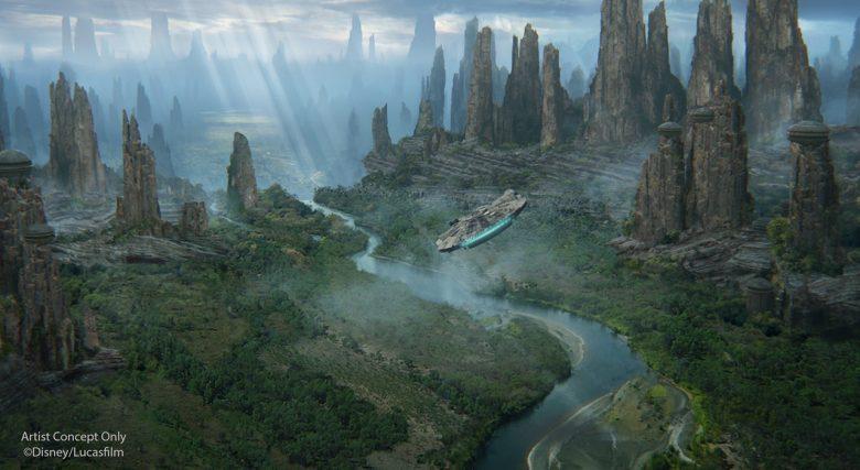 Mais uma imagem para deixar você com bastante vontade! :P Concept art de Galaxy's Edge divulgada pela Disney mostrando o planeta Batuu