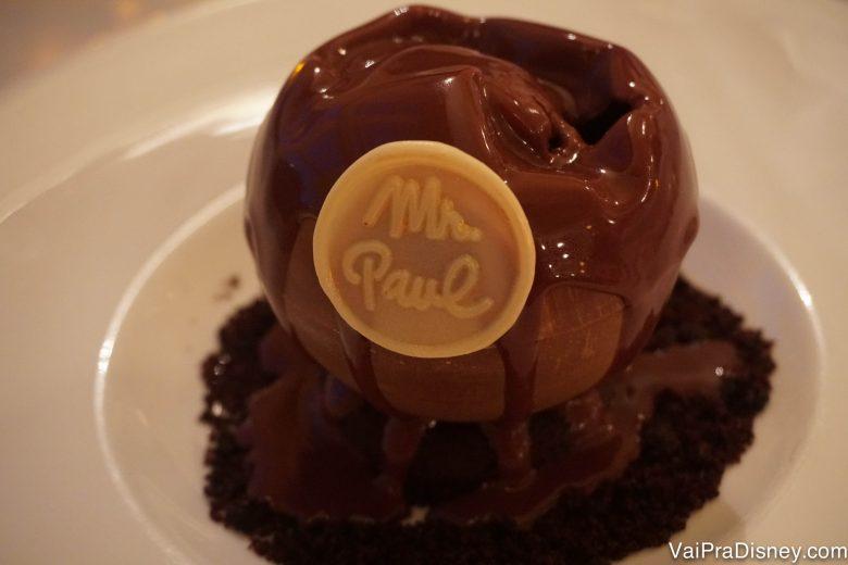 Chocolate de todos os tipos e texturas. Não tinha como ser ruim.