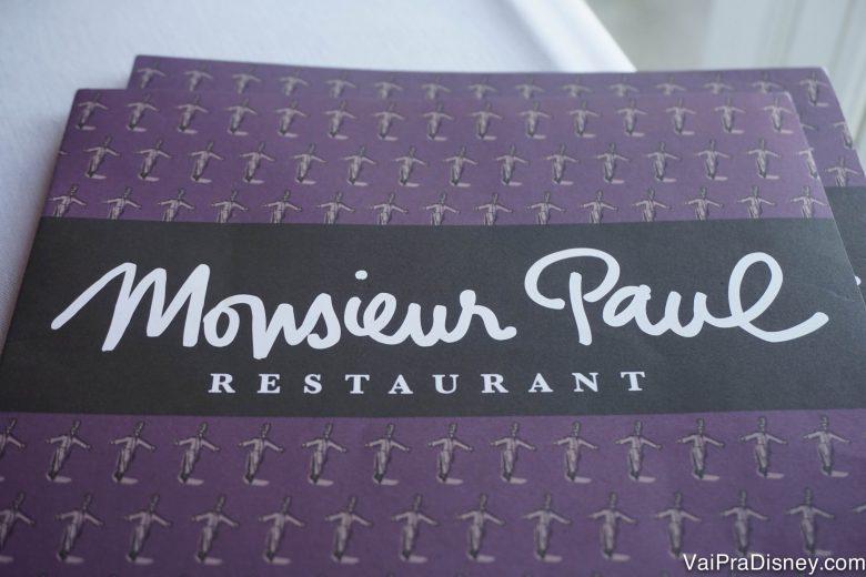 Matamos a curiosidade e finalmente conhecemos o Monsieur Paul.