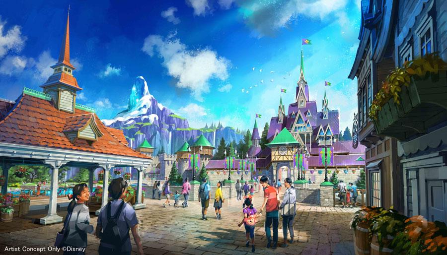 Conceito de Arendelle na área de Frozen que fará parte da expansão do Tokyo DisneySea