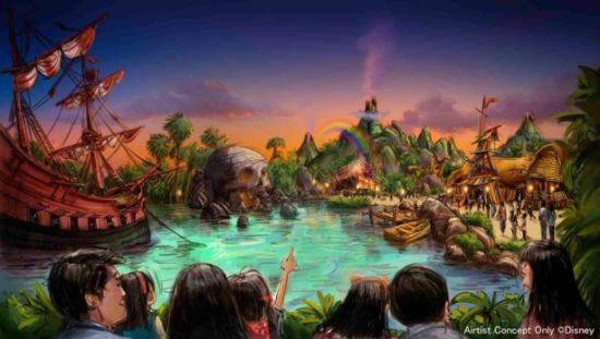 Conceito da Terra do Nunca do Peter Pan que chegará ao Tokyo DisneySea