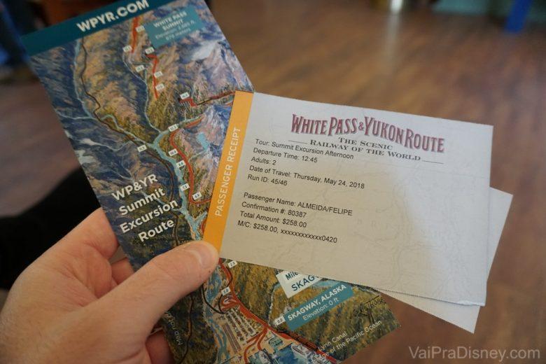 Passeio super tradicional de trem pelo White Pass & Yukon Route, o caminho da corrida pelo ouro!