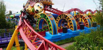 Foto da montanha-russa Slinky Dog Dash, na Toy Story Land do Hollywood Studios