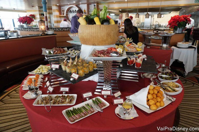 Foto da comida no brunch do Palo