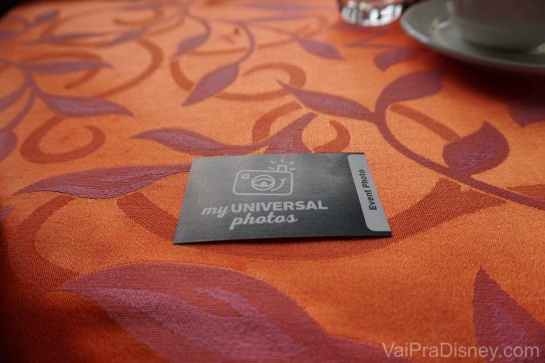 Não perca este cartão! Com ele você poderá pegar todas as fotos digitais tiradas no café da manhã, sem custo adicional!